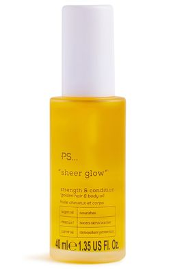 PS... Sheer Glow Strengthen And Condition Hair And Body Oil, £4.50, €5, $5.50, PLN 22